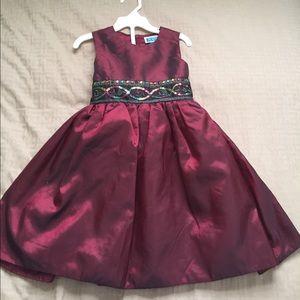3T burgundy holiday dress